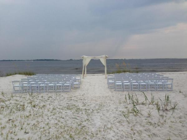 Bamboo Arbor Chuppah Beach Chairs Resin Folding Chairs Marry Me Wedding Rentals