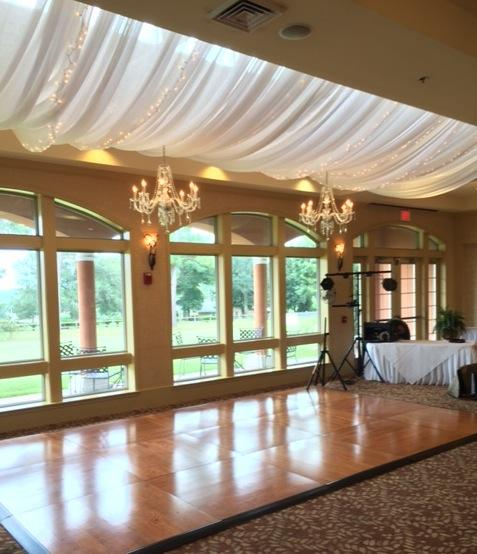 Lighted D With Chandeliers Over Oak Dance Floor At Scenic Hills Country Club Wide Andrew Wedding Jpg